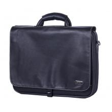 "17"" Leather Look Laptop Bag with Shoulder Strap"