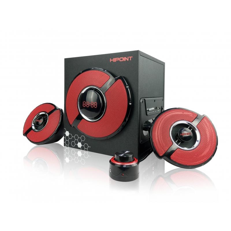 Bluetooth Gaming 2.1 Speaker - Black & Red